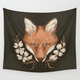The Fox and Dogwoods Wall Tapestry