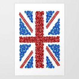 Blooming Brits Art Print