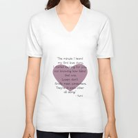 lovers V-neck T-shirts featuring Lovers by Zen and Chic