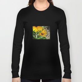 Black-eyed Susans and a Busy Bee Long Sleeve T-shirt