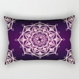 Violet Glowing Spirit Mandala Rectangular Pillow