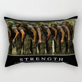 Strength: Inspirational Quote and Motivational Poster Rectangular Pillow