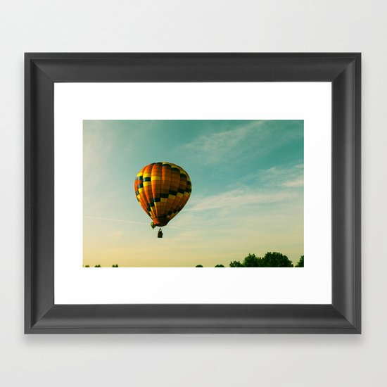 Touching The Tree Tops Framed Art Print