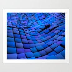 Blue Valley Art Print