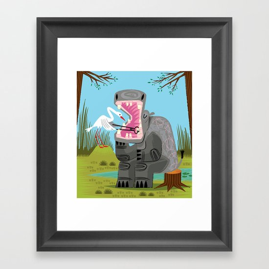 Hippopotamouth Framed Art Print