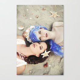 Beautiful mermaids Canvas Print