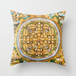 Buddhist Mandala Buddha Teachings Thangka Throw Pillow