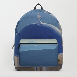 Santorini Island, Greece Backpack