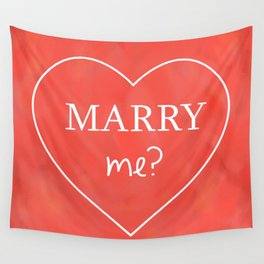 Valentines Day Marry Me Wall Tapestry