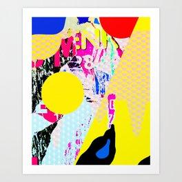 The River Flow - Abstract Pop Art Painting & Graffiti Art Print