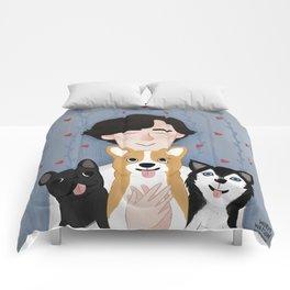 Sherlock Holmes loves pups Comforters