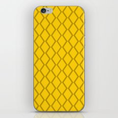 Sunshine Yellow Diamond Fencing iPhone & iPod Skin