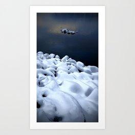(#6) Marshmallow River Rocks Art Print