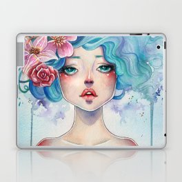 Blue Hair Laptop & iPad Skin