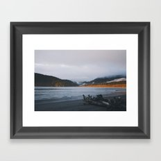 Sunset + Clouds Framed Art Print