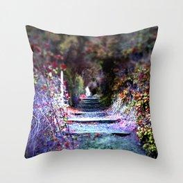 Secret Garden Path Purple Dream Photography Throw Pillow