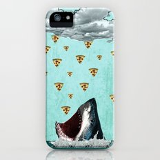 Pizza Shark Print iPhone (5, 5s) Slim Case