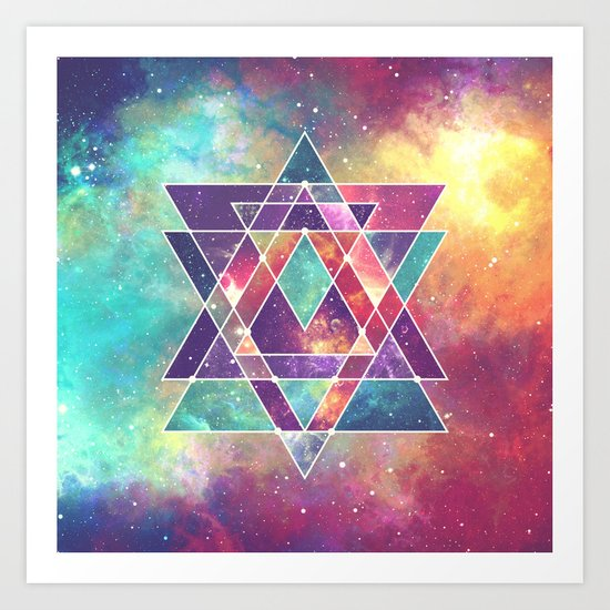 Sacred Geometry (Connection) Art Print