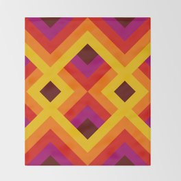 Retro Pattern 16 Throw Blanket