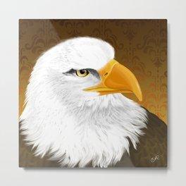 Eagle Face Metal Print