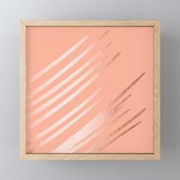 Sweet Life Swipes Peach Coral Shimmer Framed Mini Art Print