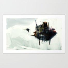 Floating Factory Art Print