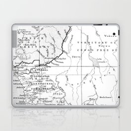 Black And White Vintage Map Of Africa Laptop & iPad Skin
