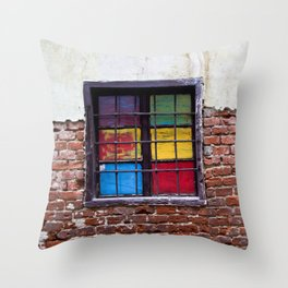 Window of Many Colors Throw Pillow