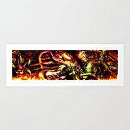 Metroid Metal: Ridley- Through the Fire.. Art Print