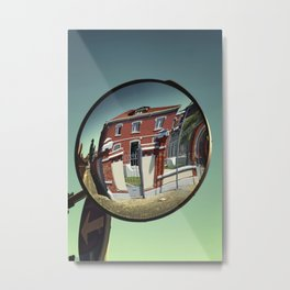 Street mirror. Metal Print