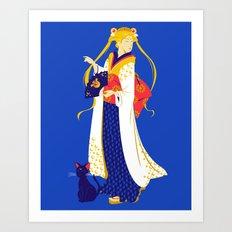 Geisha Moon Art Print