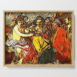 Velazquez's Triumph of Bacchus - Der Roj study Serving Tray