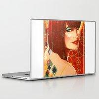 klimt Laptop & iPad Skins featuring KLIMT GIRL by Lorena Carvalho
