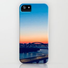 City View High-angle Shot at Dawn iPhone Case