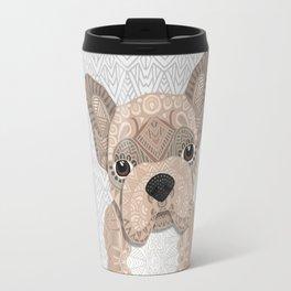 Beige Frenchie Puppy 001 Travel Mug