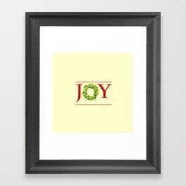 JOY Christmas Wreath  Framed Art Print