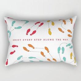 Enjoy Every Step - Colorful Rectangular Pillow