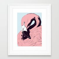 flamingo Framed Art Prints featuring Flamingo by CranioDsgn