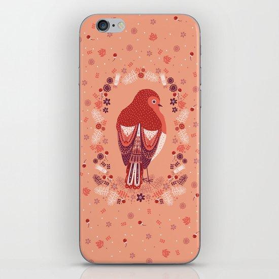 Petite Robin Red Breast iPhone & iPod Skin