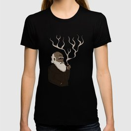 Darwin ponders evolution T-shirt
