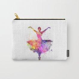 Woman ballerina ballet dancer dancing Carry-All Pouch