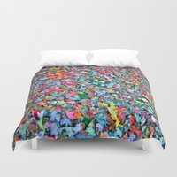 blanket Duvet Covers featuring Autumn Blanket by Angela Pesic