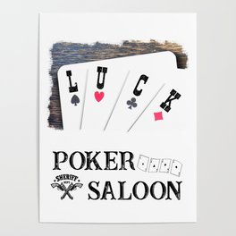 Welcome to the Poker Saloon Poster