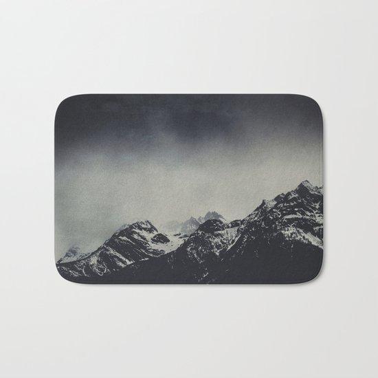 Misty dark Mountains Bath Mat