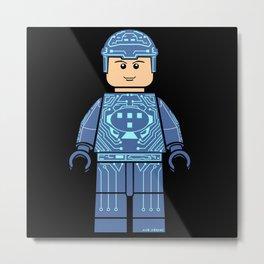 Tron Lego Metal Print