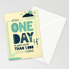 3/52: Psalm 84:10 print Stationery Cards
