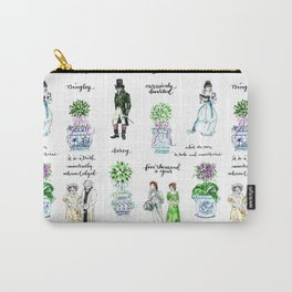 Pride and Prejudice and Topiary  Carry-All Pouch