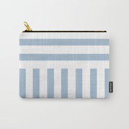 Powder Blue Direct Stripe Carry-All Pouch