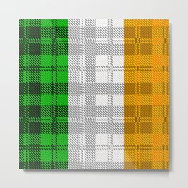 Irish Tartan Flag Metal Print