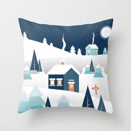 Sundance Ski Mountain Throw Pillow